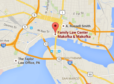 Jacksonville Florida Law Office Map