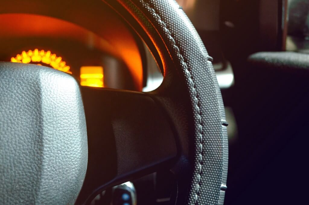 Car Interior Pulled Over for Speeding