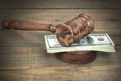 court gavel alimony money